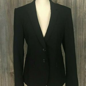 Banana Republic Women's Black Blazer Wool Blend